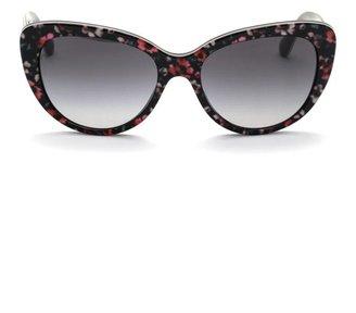 Dolce & Gabbana Floral acetate cat-eye sunglasses