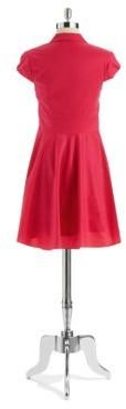 Betsey Johnson Capped Sleeved Fit and Flare Dress