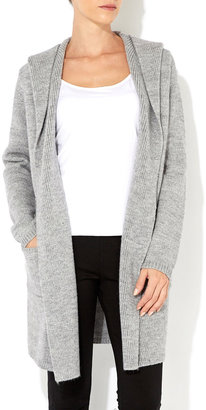 Wallis Grey Hooded Coatigan
