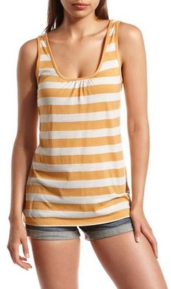 Charlotte Russe Striped Bow Back Tank