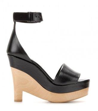 Stella McCartney Lindsey faux-leather platform wedge sandals
