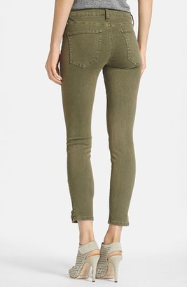Current/Elliott 'The Soho Zip Stiletto' Skinny Jeans (Army)