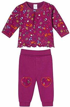 Schiesser Girls' 0-24m Baby Anzug 2-teilig Pyjama Set,(Size: 062)