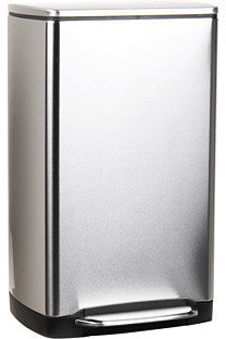 Simplehuman Wide Step Rectangular Step Trash Can, Fingerprint-Proof Brushed Stainless Steel, 38 Liters /10 Gallons