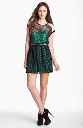 Nanette Lepore 'Just Dance' Lace Blouson Dress