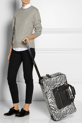 Hogan Katie Grand Loves Zebra-print twill travel bag