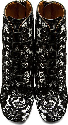 Givenchy Black Lace Ankle Boots