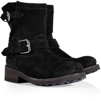 Ash Black Vintage Suede Ankle Boots