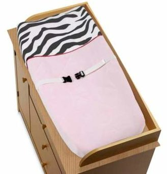 Sweet Jojo Designs Funky Zebra Changing Pad Cover in Pink