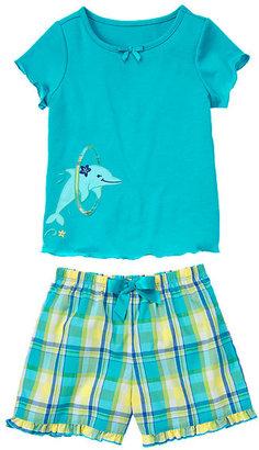 Gymboree Dolphin Hoop Shortie Two-Piece Pajama Set