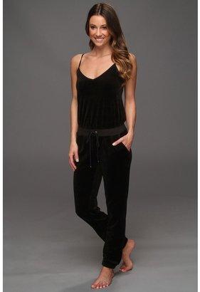 Juicy Couture Velour Long Romper (Black) - Apparel