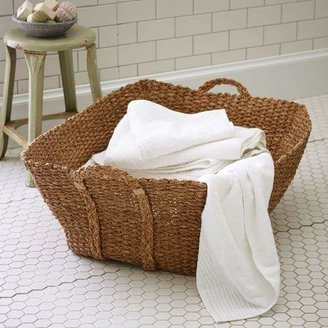 west elm Braided French Laundry Basket