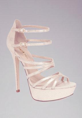 Bebe Sandra Gold Strappy Sandals