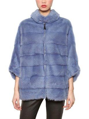 Simonetta Ravizza Mink Caped Fur Coat