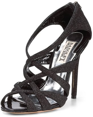 Badgley Mischka Strappy Evening Sandals - Junebug