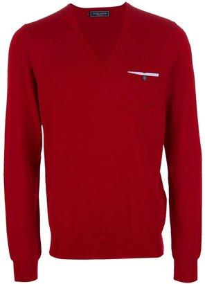 DSquared DSQUARED2 v-neck pocket square sweater