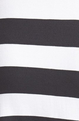 Jessica Simpson 'Phoebe' Stripe Jersey Fit & Flare Dress