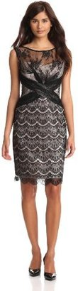 Jax Women's Allover Lace And Mesh Dress