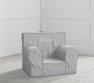 Pottery Barn Kids My First Gray Gingham Anywhere Chair