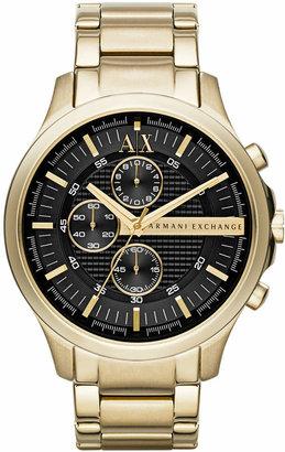 Armani Exchange Men Gold-Tone Stainless Steel Bracelet Watch 46mm AX2137