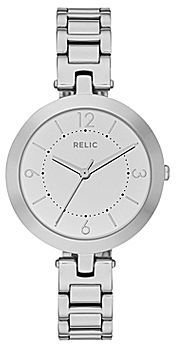 JCPenney Relic® Camille Womens Silver-Tone Bracelet Watch