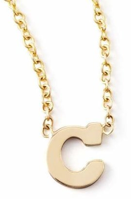 Chicco Zoe Gold Block Initial Necklace