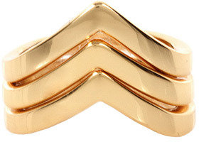 """Rebecca Minkoff """"V"""" Stackable Ring in Gold -"""