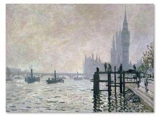 Westminster Trademark Fine Art 30 in. x 47 in. The Thames Below Canvas Art