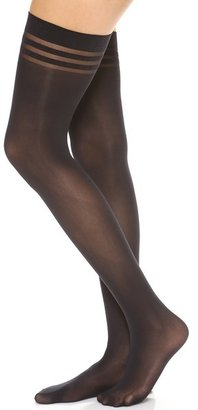 Alice + Olivia by Pretty Polly Opaque Thigh Highs
