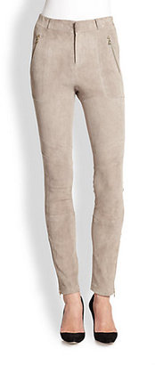 J Brand Ready-To-Wear Astrid Suede Leather Pants