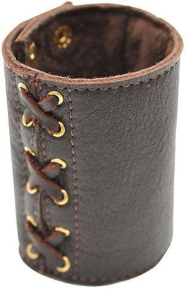 Heather Gardner Lace Leather Cuff in Black