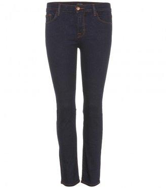 J Brand 8312 Cropped Rail mid-rise slim-fit jeans