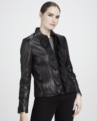 Elie Tahari Kendrick Leather Jacket