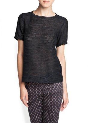 MANGO Metallic trimming knitted blouse