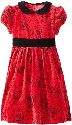 Hartstrings Big Girls' Printed Velveteen Dress
