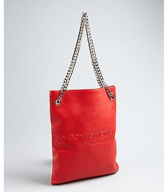 Givenchy red leather 'Maison Givenchy' chain strap shoulder bag