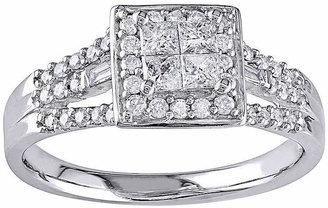 MODERN BRIDE 1/2 CT. T.W. Diamond 10K White Gold Engagement Ring