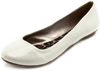 Charlotte Russe Crinkled Patent Ballet Flat