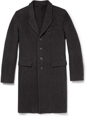 Burberry Prorsum Herringbone Wool and Cashmere-Blend Overcoat