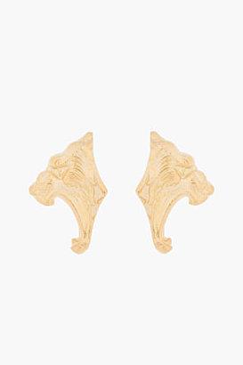 Tom Binns Gold Growling Tiger Earrings