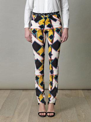 Peter Pilotto Eli shard diamond print trousers