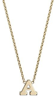 Zoë Chicco 14K Yellow Gold Initial Necklace, 16