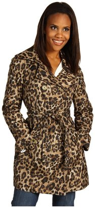 MICHAEL Michael Kors Leopard Raincoat (Leopard) - Apparel