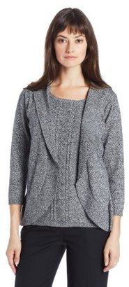 Sag Harbor Womens Marled Sweater Duet