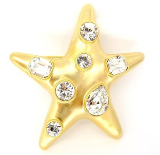 Kenneth Jay Lane Brooch Star Pin with Faux Stones as Worn by Jackie O