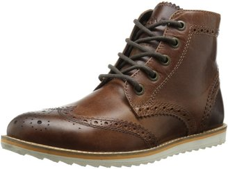 Crevo Men's Boardwalk Wing Tip Boot Brown Leather 9 M US