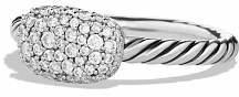 David Yurman Petite Pavé Cushion Ring with Diamonds