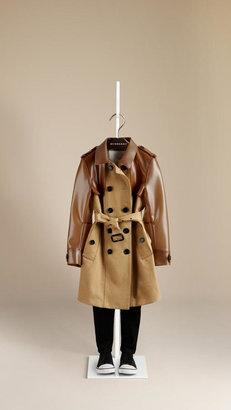 Burberry Vinyl-Detail Cotton Gabardine Trench Coat