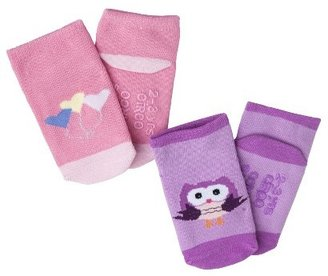 Circo Infant Toddler Girls' 2 Pack Casual Socks - Pink/Purple