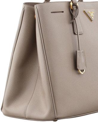 Prada Saffiano Gardener's Tote Bag, Gray (Argilla)